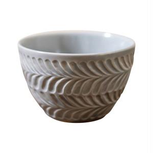 波佐見焼 翔芳窯 ローズマリー ライスボウル 茶碗 約11cm マットグレー 33402