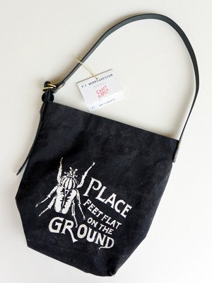 "P.T WORKS & DESIGN【POKA ""Collaboration project"" PT WORKS & DESIGN × CRAFT & ARCH】2WAY BAG BLACK"