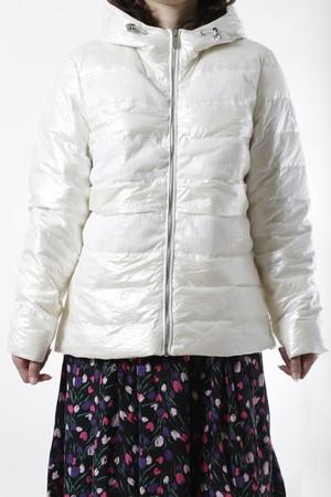 【CLAIRVAL】ダウンジャケット スパンコール ホワイト