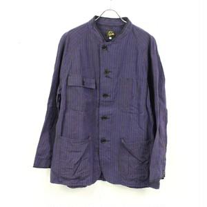 Needles / ニードルス   Chore Coat-Aizu Tsumugi ストライプカバーオール   S   パープル×ブラック   メンズ