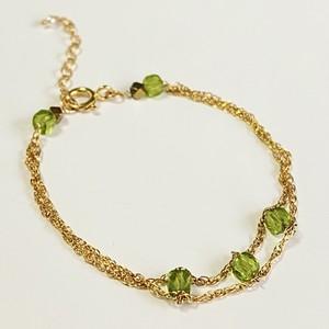 【heartwarming bracelet】 Peridot(ペリドット)