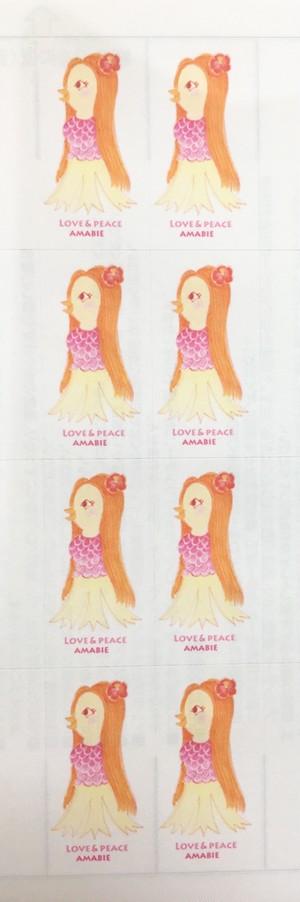 あまびえガール③ シール8枚綴り 1シート