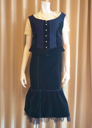 A-00868    キルティングベロアスカート