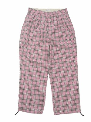 WIDE PANTS PINK CHECK 18AW-FS-31
