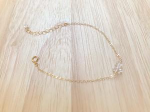 14kgf Herkimer diamond bracelet