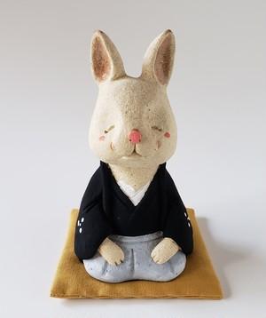 紋付き袴の卯(N)-ミニ座布団付