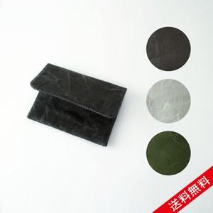【送料無料】SIWA カードケース W10×H7.5cm ブラック グレー ダークグリーン 名刺入れ  カードケース 和紙 耐久性 丁寧 手作業 ナオロン プレゼント お祝い