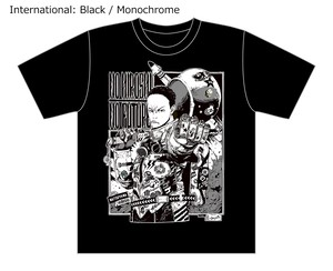 [Black / Monochrome] Collaborative T-shirt by Hiroshi Matsuyama (CyberConnect2) and jbstyle.