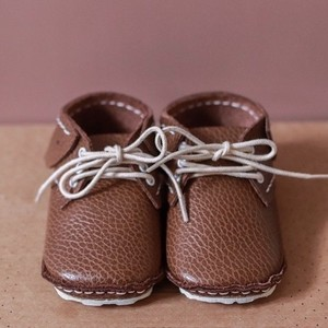 《First Baby Shoes》Model : SKY ファーストシューズ手作りキット Chocolate brown