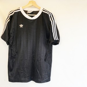 adidas '80 Black stripe sports shirts Made in U.S.A. 万国タグ アメリカ古着