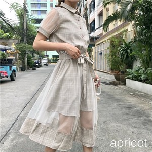 【お取り寄せ商品】see-through check one-piece 6471