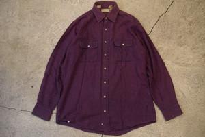 USED 80s L.L.Bean Flannel Shirt -M Tall S0571