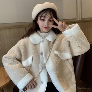 【アウター】ファッションカジュアルスエード配色ウブスウィート厚いコート