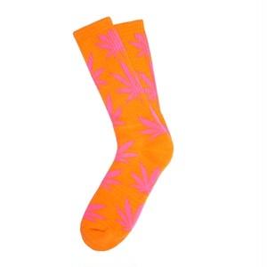 HUF GLOW IN THE DARK PLANTLIFE CREW SOCKS ORANGE/PINK