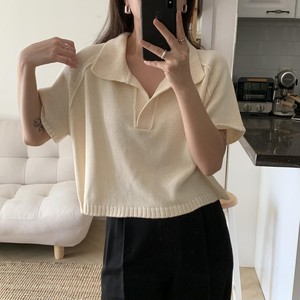 Knitted T-Shirts(apricot)