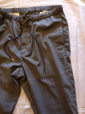 WASHABLE WOOL EASY TROUSER PANTS(good thing)