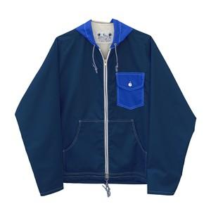 【受注生産】クラシック フードジャケット(ネイビー / ブルー)