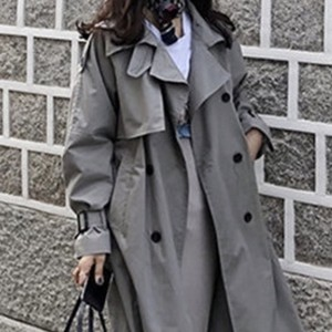 long trench coat grey