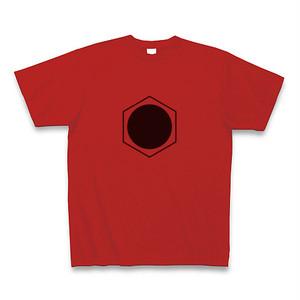 理系Tシャツ【ベンゼン環/丸/レッド】-(Scien-T'st)Benzen/Circle/Red