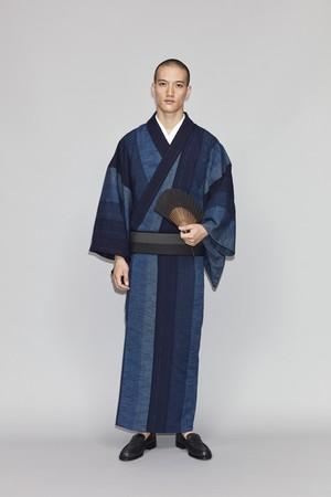 きもの / 久留米絣 / 鰹縞 / Navy blue(With tailoring)