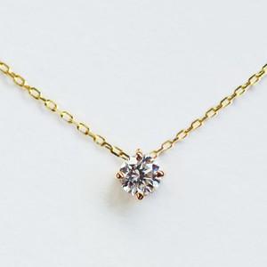 K18 さらっと気負わない ダイヤモンド 0.1ct ネックレス