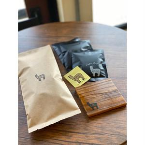 コーヒー豆&コースターセット/クリックポスト便