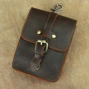 Leather Belt Bag Small Vintage Bag レザー ハーネス ベルト 天然 ビンテージ (YYB99-6266397)