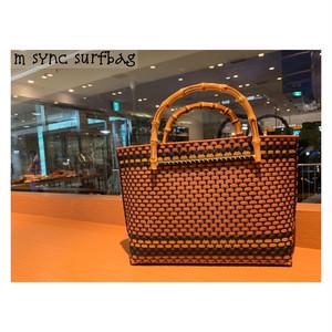 【受注制作】kiyoko_Bamboo handle bag バンブーバッグ  ビーチバッグ//size M
