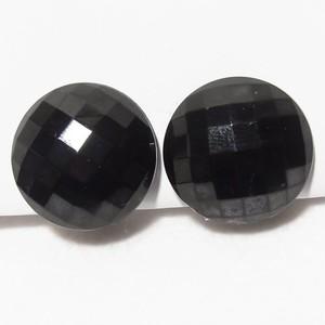 黒ガラスのラウンドイヤリング  ヴィンテージアクセサリーのセール通販 6005E