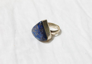 vintage blue triangle ring