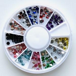 12色セット★ガラスラインストーンカボション2