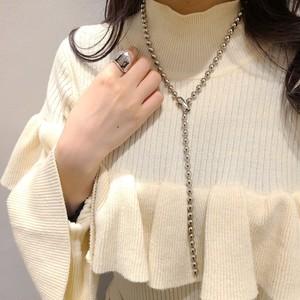 〈ネックレス〉メタル ボールチェーン ネックレス