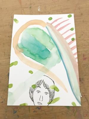 直筆ミニ絵画【食臭する植物、そして浄化】