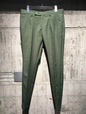 【meagratia】polyester 1 tuck trousers