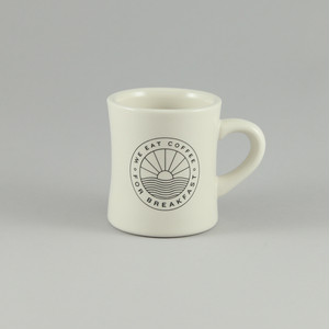 ミニタリーマグ黒/ We Eat Coffee for Breakfast Diner Mug