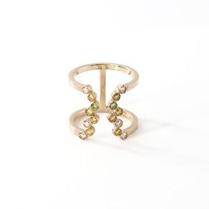 Green Diamonds Ring