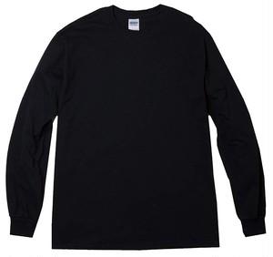 オーバーサイズ クルーネック Tシャツ (長袖) ブラック
