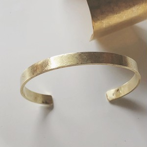 真鍮の平角バングル