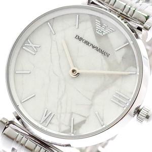 エンポリオアルマーニ EMPORIO ARMANI 腕時計 レディース AR11170 クォーツ ホワイトマーブル シルバー シルバー