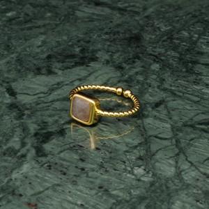 SINGLE MINI STONE RING GOLD 065
