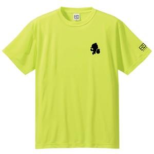 ワンポイントキャラクターTシャツ(蛍光イエロー×ブラック)