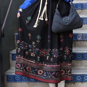 USA VINTAGE FLOWER EMBROIDERY SKIRT/アメリカ古着花柄刺繍スカート