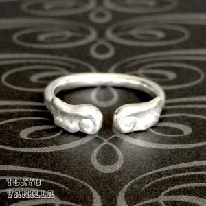 Angel  天使の羽根フリーサイズリング - silver -