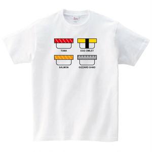 4貫の寿司 Tシャツ