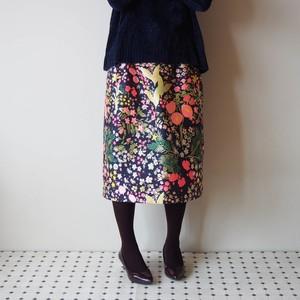 「受注製作」きまぐれコレクション -クレイジーな織り模様のスカート ちょっとデザイン違いのセミタイト 限定1枚!