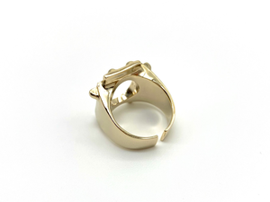 Jouet ring ー gold x back open ー