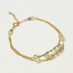 【heartwarming bracelet 】 Prehnite(プレナイト)