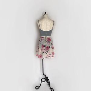 """❖""""Fiorina""""  Ballet Wrap Skirt - Camellia CORAL×CREAM [Sheer]( カメリア・コーラル×クリーム [シアー])"""