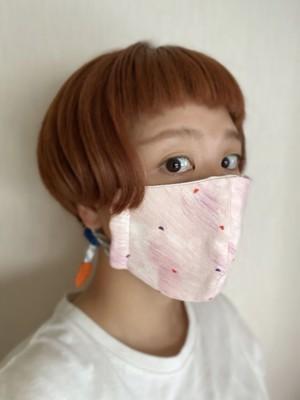 春夏◎ぬのマスク/ピンクのおえかき