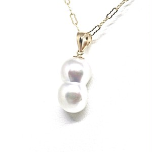 【希少!】あこや本真珠のツインパールネックレスR